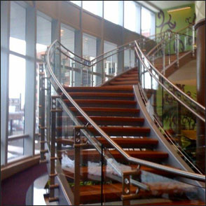 Rolled Tube Metal Stairs